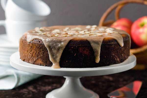 Gluten Free Apple Cake with Cinnamon Glaze