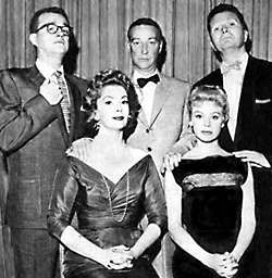 I've Got A Secret with Gary Moore. Steve Allen later hosted as did Bill Cullen. Some of the regular panalists were Jayne Meadows, Henry Morgan, Faye Emerson, Betsy Palmer and Bess Myerson.