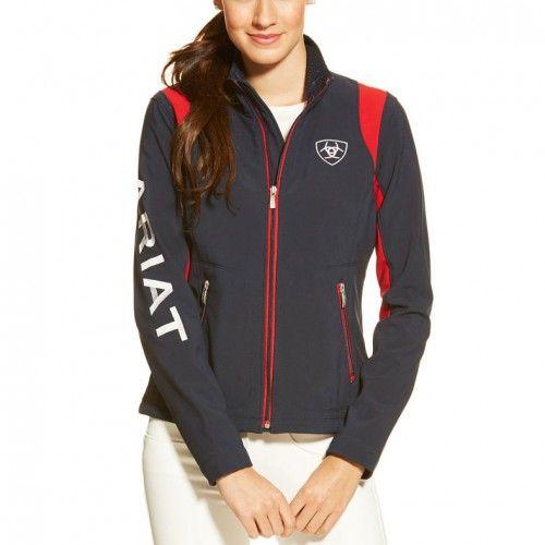 Ariat Ladies Team Softshell Navy Jacket