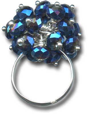 Blue Bling Ring ~ #DIY by Tiffany White