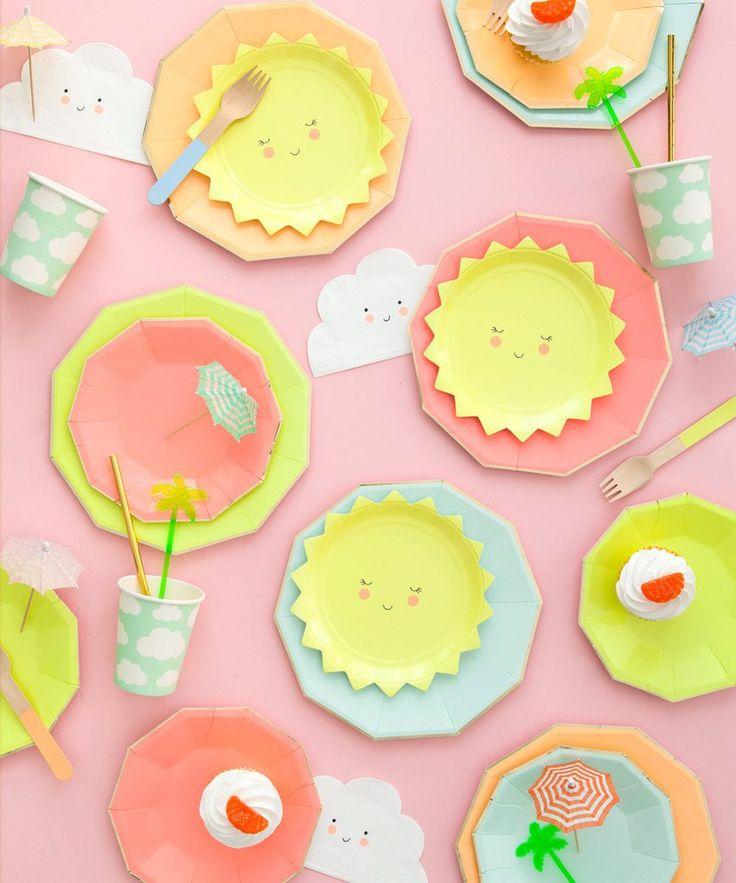 Smiley Cloud Party Napkin