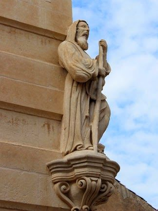 Statue of St. Francis - Palace Cosentini in Ragusa-Ibla