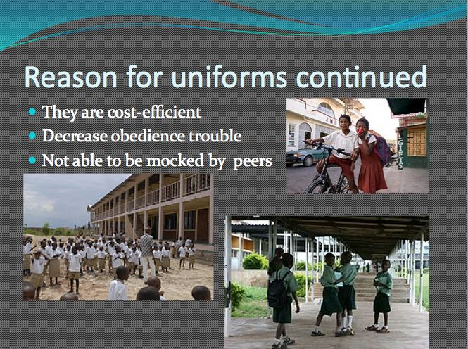 the debate over school uniforms The heated debate over the necessity of introducing school uniforms continues up to these days essays on school uniforms generally explore the question of whether introduction of school.