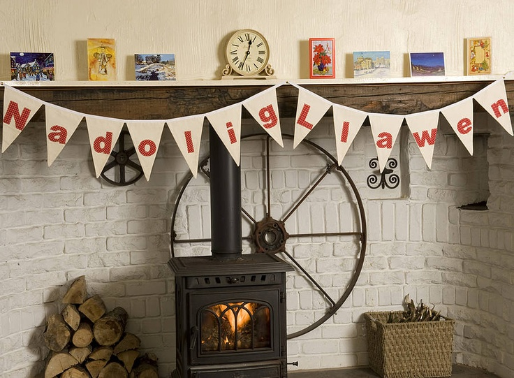 Bunting - Merry Christmas in Welsh