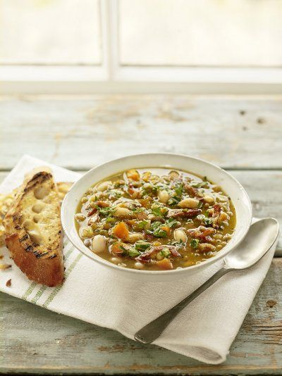 Store cupboard lentil soup