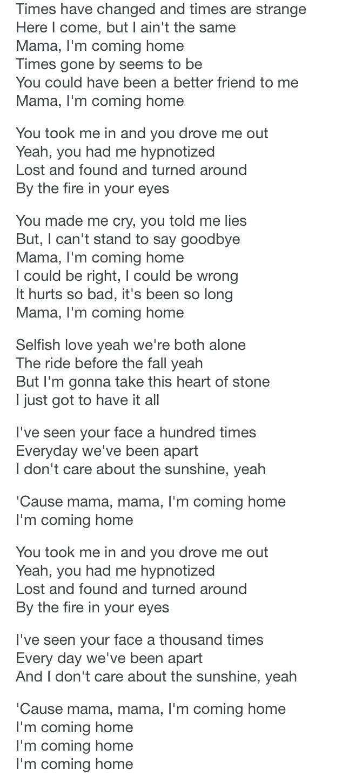 Lyrics for mama I'm co... Taylor Swift Songs Lyrics