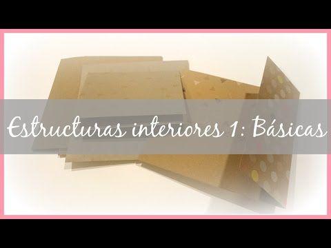 Estructuras interiores para álbumes 3: desplegable hacia arriba, bolsillo, cinturón y cascada - YouTube
