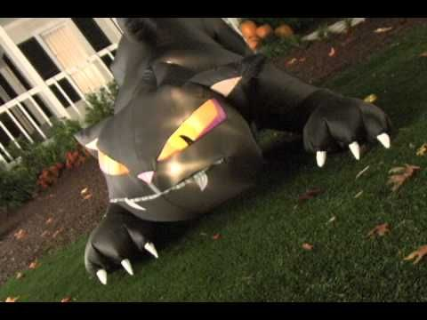 Gemmy Animated Airblown Black Cat Halloween Yard