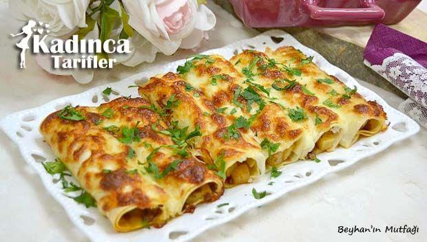 Patlıcanlı Rulo Lazanya Tarifi