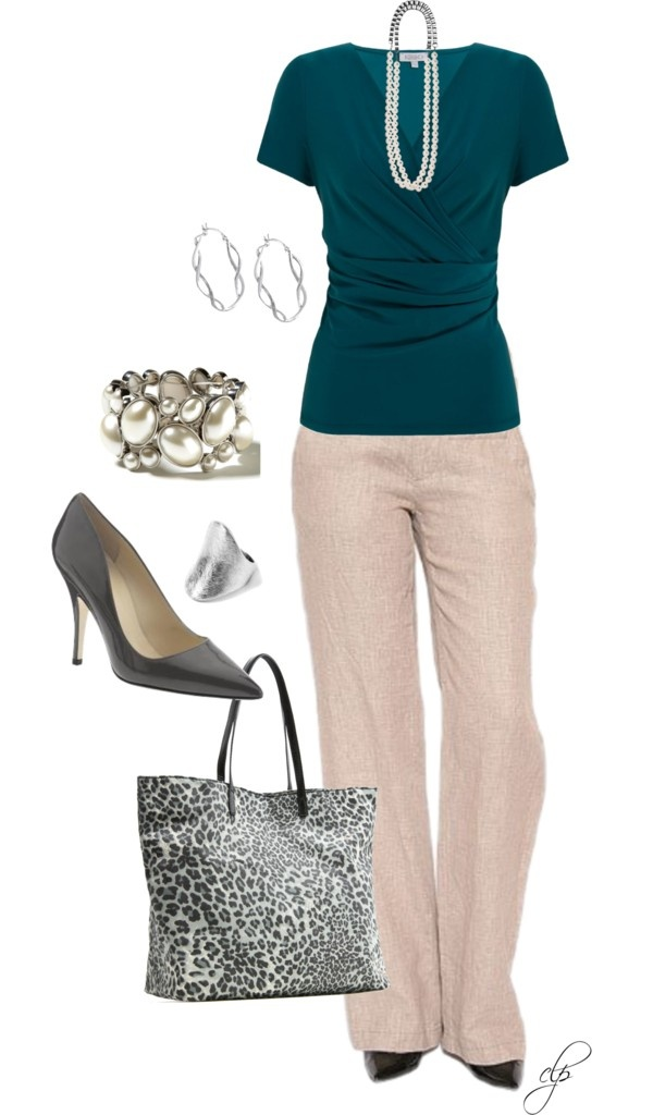 """Business Casual"" by cristypeterson on Polyvore. Different shoe, and I would wear!"