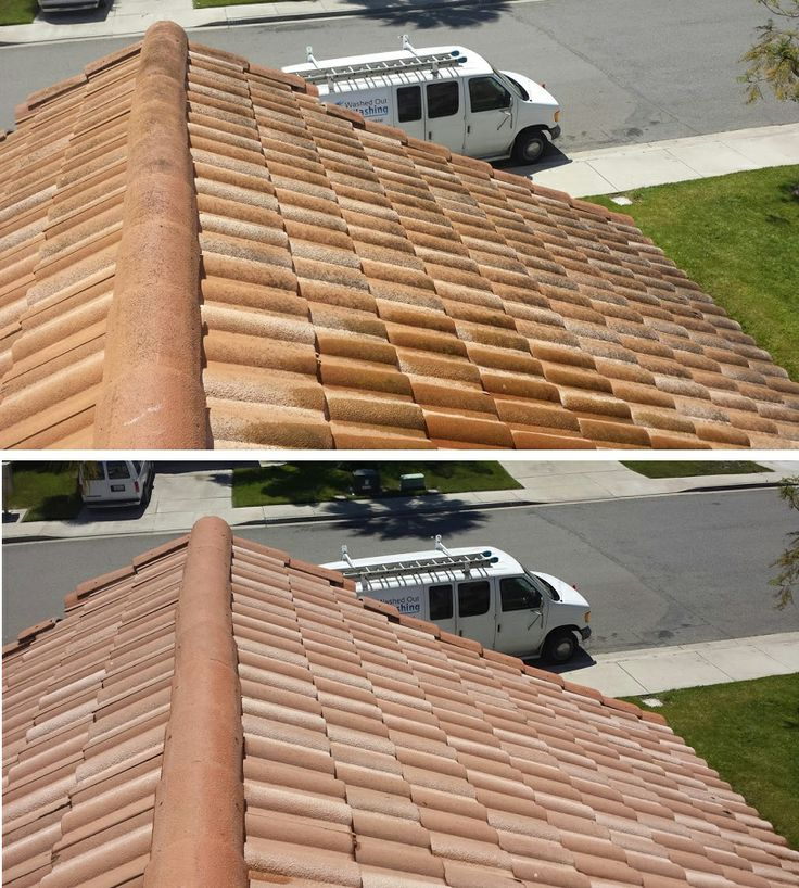 Before & After of a Roof Cleaning