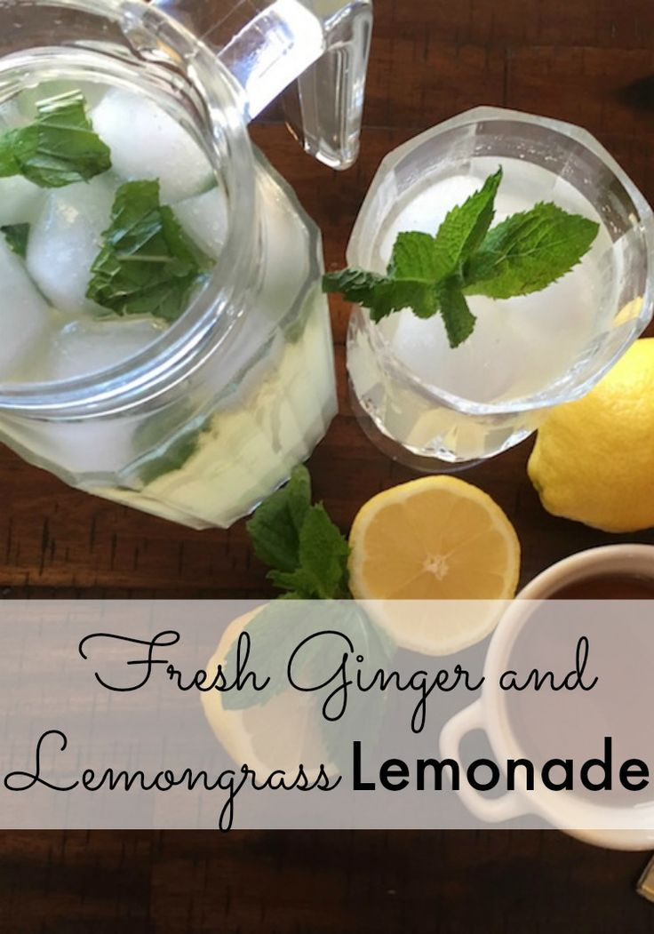 This Fresh Ginger and Lemongrass Lemonade recipe is easy to make and makes a refreshing summer drink. How to make homemade lemonade. Simple recipe for fresh lemonade with ginger and lemongrass