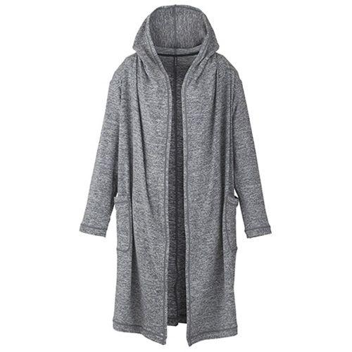DANSKIN ロングカーディガン(レディース) 12,960円(税込) 商品型番 DY56325 【Fabric】 ストレッチNTメランジ(ポリエステル62%、ナイロン34%、ポリウレタン4%) 吸汗速乾機能付きで、肌触りが柔らかく着心地の良いロングカーディガンです。リラックスできるゆったりしたサイズ感でヨガの前後、普段着に羽織り易くなっています。また、大き目のフードでリラックスした瞑想もできます。ロングレングスタンクトップ(DY76330)、ANY MOTION ショート(DA25350)とのコーディネートもおすすめスタイルです。