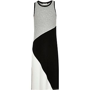 Girls grey column dress