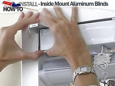 How to Install Aluminum Blinds Video - Inside Mount - Blinds.com ...