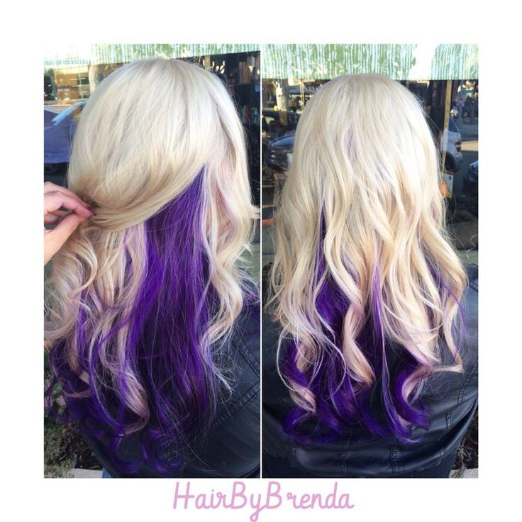 Blonde Hair with Violet Underneath | 1000+ ideas about Purple Underneath Hair on Pinterest | Purple ...
