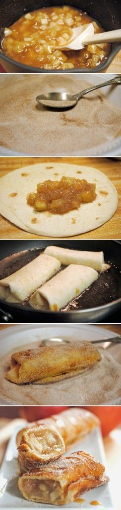 apple cinnamon chimichangas - these are delicious! I made them with left