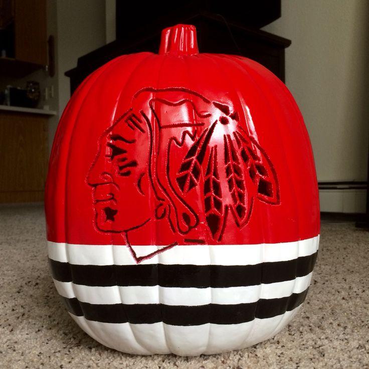 Chicago Blackhawks Pumpkin