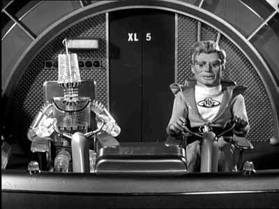 Fireball XL5 (Gerry Anderson) Robert the robot and Steve Mercury