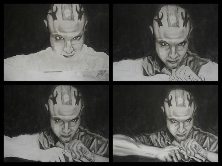 "A3 Charcoal drawing. Juan Carlos ""Juice""  Ortiz.  S.O.A (Theo Rossie)"