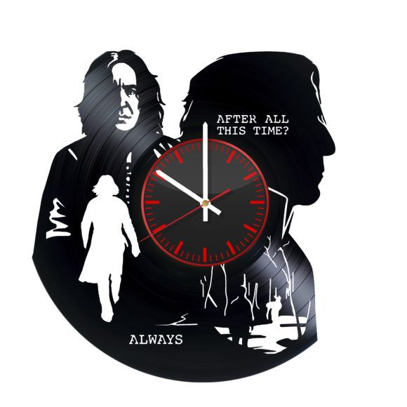 Harry potter clocks Creative Handmade Vinyl Record Wall Clock