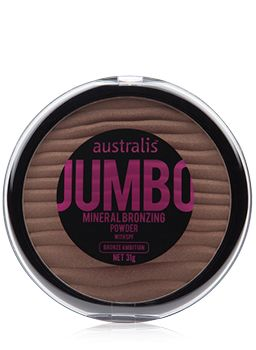 A mineral pressed bronzing powder in JUMBO size for never ending use.