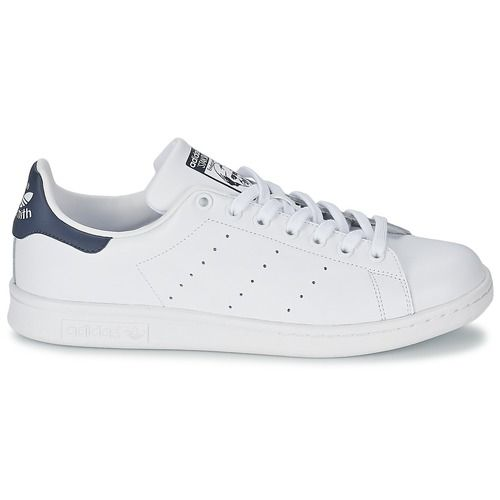 timeless design d0d63 e5b13 adidas Originals STAN SMITH Hvid  Blå - Gratis fragt hos Spartoo.dk ! -