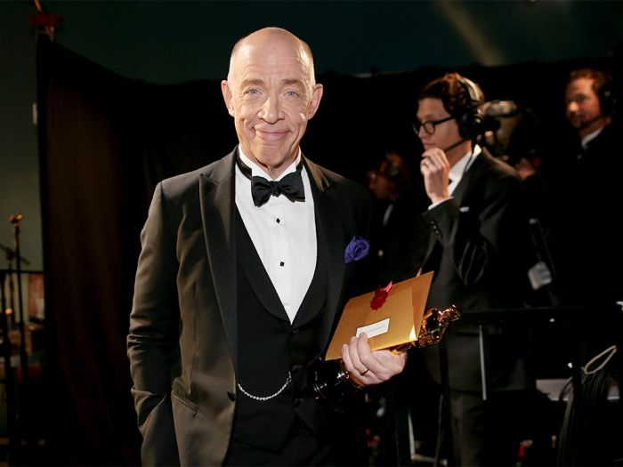 "2015 Oscars Backstage Quotes JK Simmons, Best Supporting Actor, ""Whiplash"" ""I almost got back on the bus a handful of times, and if I""d had any reasonable options in terms of employment I probably would have,"" he said. Success is ""definitely more tiring than the lean times,"" he added. ""In the lean times you get lots of sleep."""