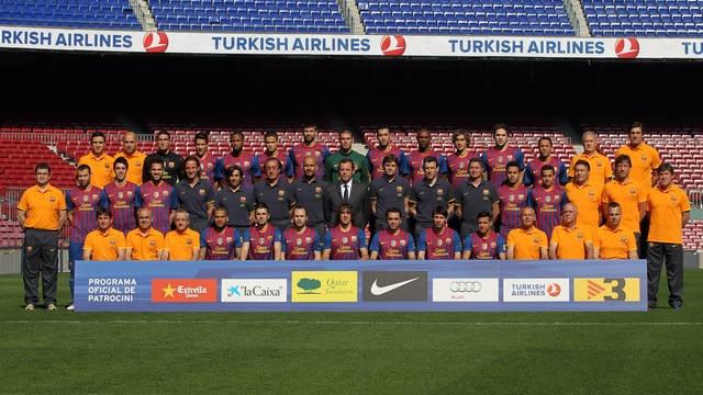 La foto oficial del FC Barcelona de la temporada 2011/12