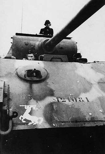 """""""Panther"""" from the parachute Panzer division """"Hermann Goering"""""""