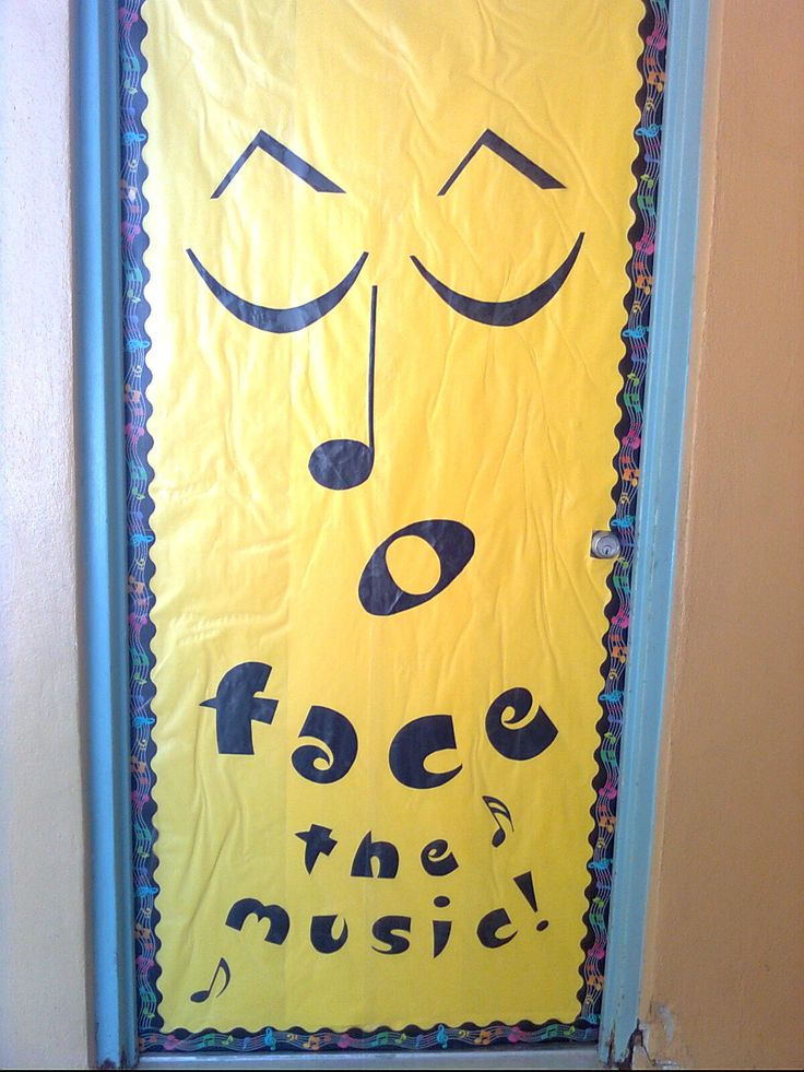 Classroom decorating ideas - Face the Music