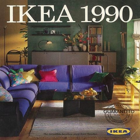 IKEA Catalog Cover 1990  #ikea #neontalk