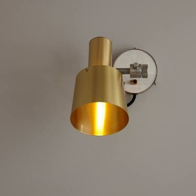 Chester Wall Light, Satin Brass, Black Braided Cable