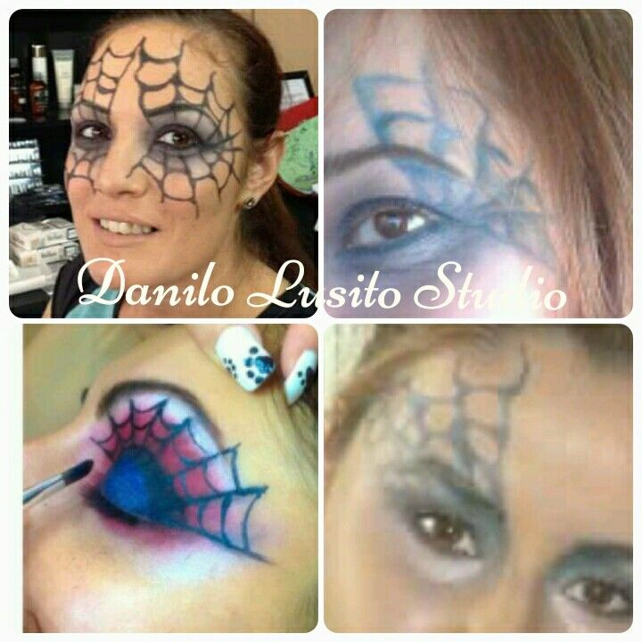 #spider #blackwidow #halloweenmakeup #spiderweb