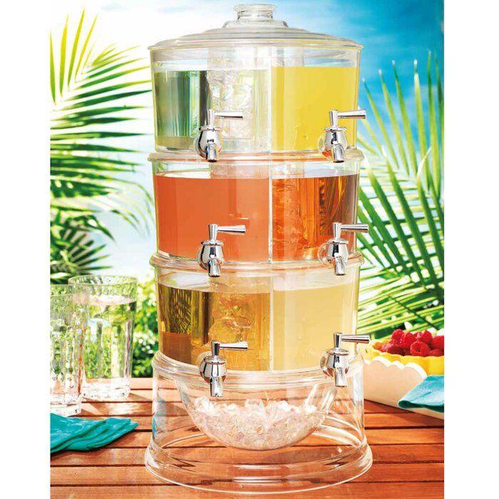 Sheringham 6 Stackable Acrylic 192 Oz Beverage Dispenser In 2020 Drink Dispenser Plastic Beverage Dispenser Glass Beverage Dispenser