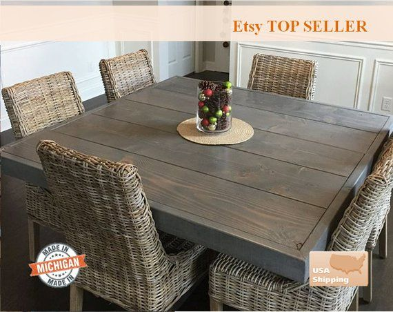 Square Farm Table Square Farmhouse Table Square Dining Table