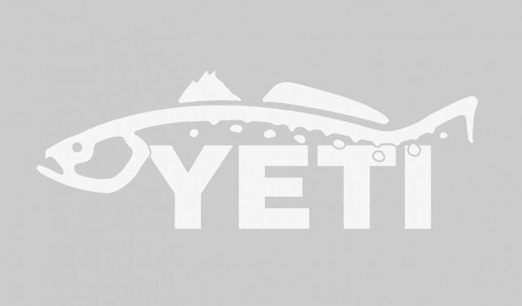 Yeti trout window decal