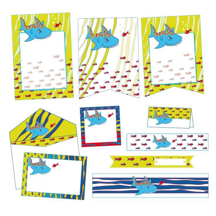 Festa per Bambini SQUALO BLU - Party's Angels - da 4 a 10 anni #party #compleanni #child #bambini #paper #decoration