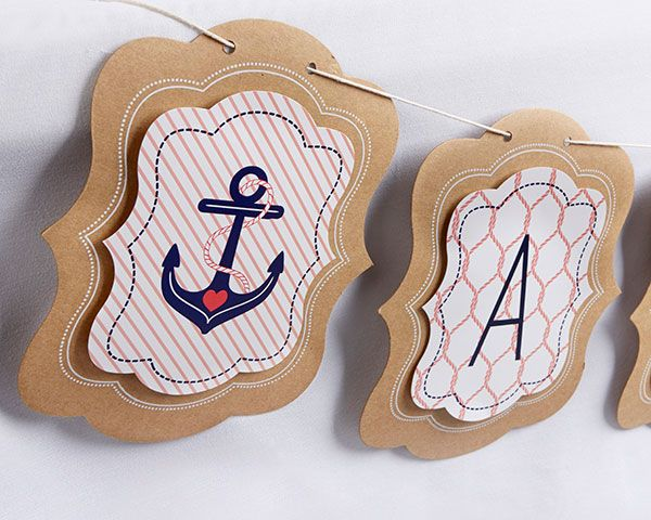Personalized Banner- Kate's Nautical Bridal Shower Collection