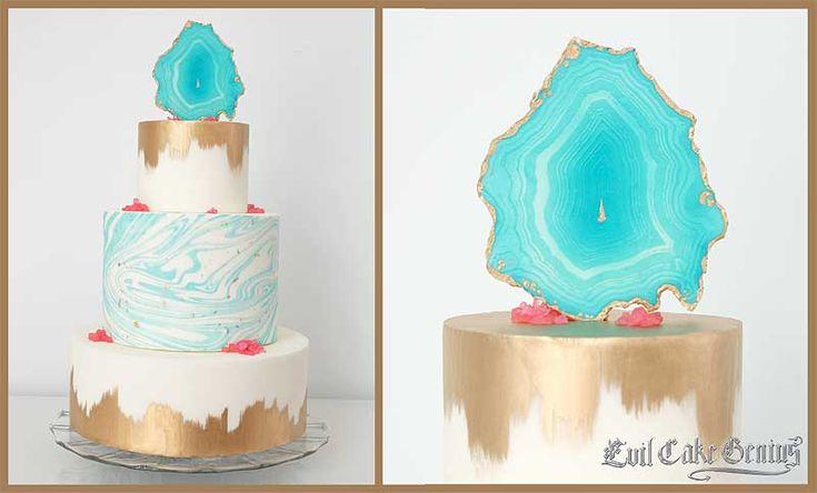 Μάρμαρο κέικ με Agate Topper