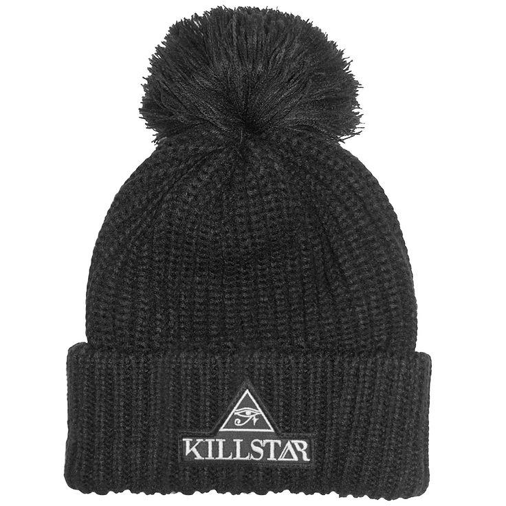Logo patch beanie, to keep your head warm during the winter ;) www.attitudeholland.nl #KillStar #beanie #eyeofhorus