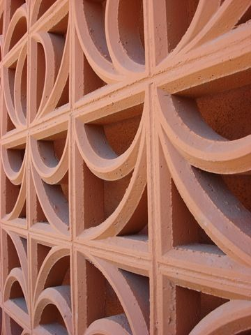 Love the color of this Breeze Block.  Palm Springs...