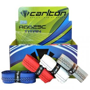 CARLTON AG625C TITAN BADMINTON GRIP BOX ( 16 PCS ) Brand : Carlton  • Product Type : Badminton Grip Box  • Features : Sweat absorbent  • Others : Designed for better  • comfort and grip  available on damroobox website