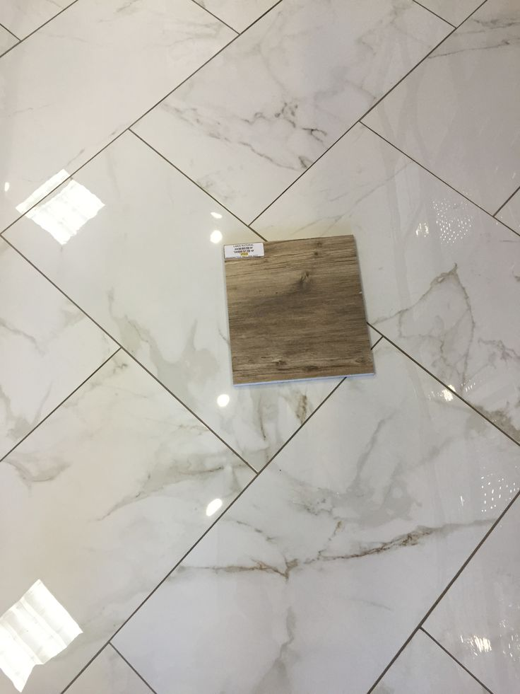Larix Natural Wood Tile On Calcutta Matte Porcelain 12x24