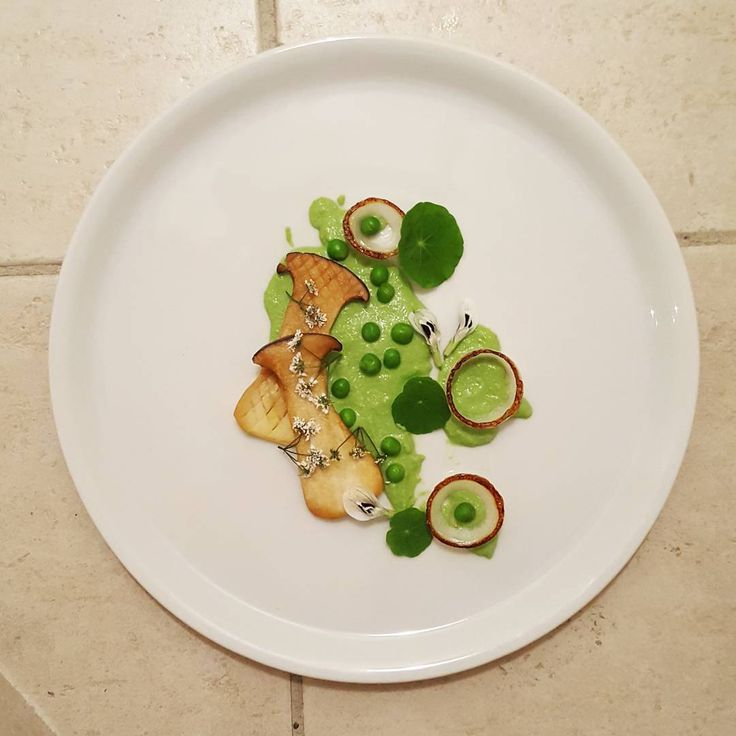 green peas and king oyster mushroom
