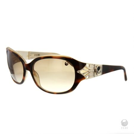 FERI - Barcelona Brown - Shields - Tortiseshell coloured frame - Acetate and metal construction with gold tone embellishment - Unique stone encrusted lens - Lenses are UV 400 and provide protection against harmful UV rays - Acetate is a hypo allergenic plastic - Acetate is used for its shine, color depth and durability  Invest with confidence in FERI Designer Lines.  www.gwtcorp.com/ghem or email fashionforghem.com for big discount