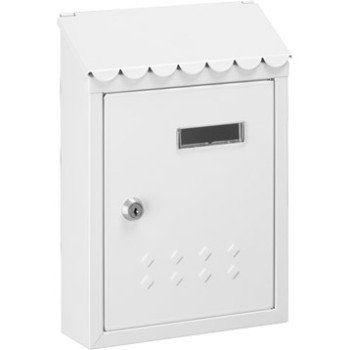 Boîte aux lettres Rénovation 1 porte DECAYEUX Thesee en acier blanc | Leroy Merlin