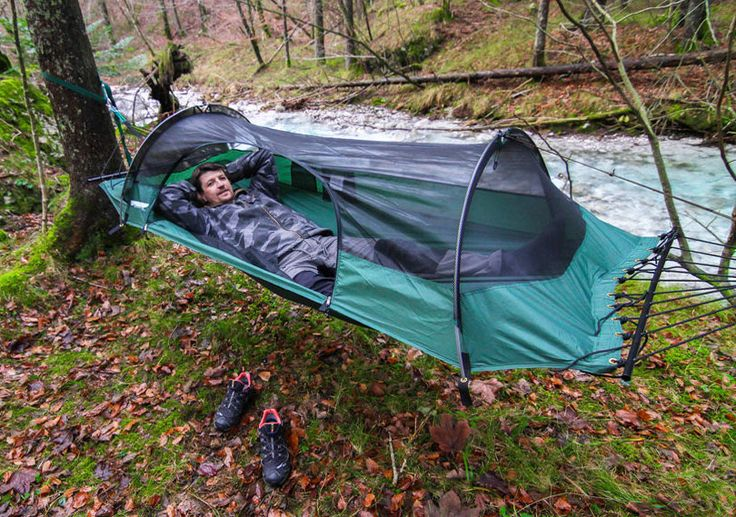 This is a tent hammock. Yup, 100% awesome. #camping #outside #hiking #hammock #outdoors #backpacking