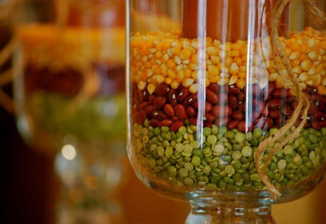 Fall Decorating with Hurricane Vases | Amanda Jane Brown