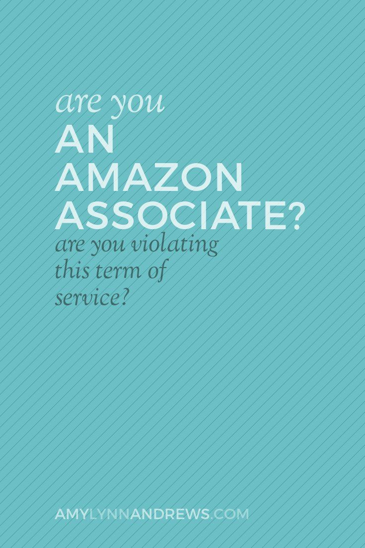 Are you an amazon associate if so there s a good change you re terms of serviceblogginginternet marketingamazonssocial media